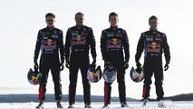 Sebastien Loeb, Kevin Hansen, Timmy Hansen and Davy Jeanney