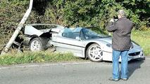 Ferrari F50 crashes in UK near Silverstone track
