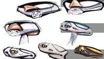 TVR Artemis concept car sketches