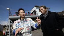Team supervisor Mr.Tatsumi and Driver Mr.Yoshida during Shakedown