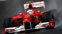 Alonso fastest all day at soggy Spa