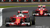 Sebastian Vettel, Ferrari SF16-H leads team mate Kimi Raikkonen, Ferrari SF16-H