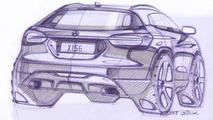 2014 Mercedes-Benz GLA design sketch 12.08.2013