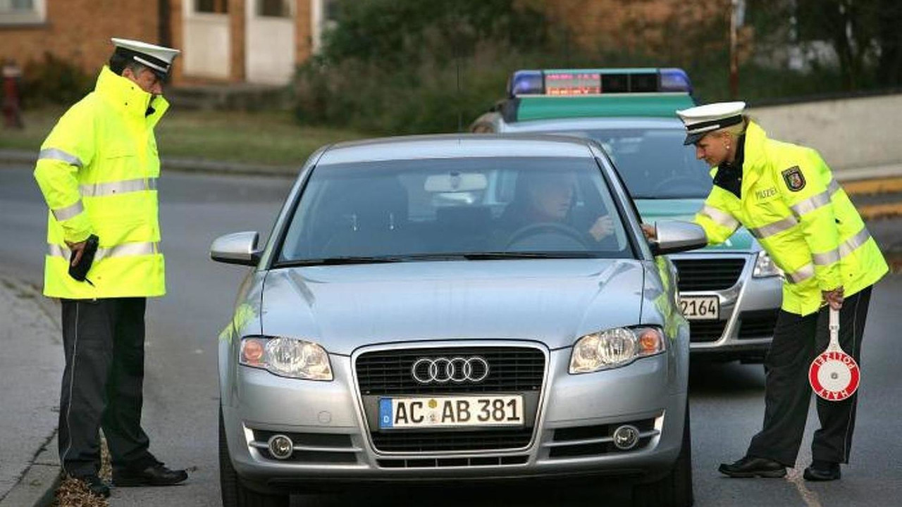 Audi A4 with ACAB license plate in Germany