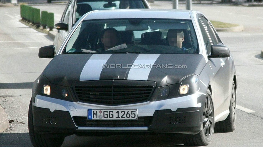 New Mercedes E-Class Black Tape Camo Latest Spy Photos
