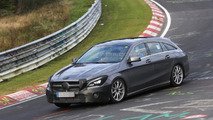 Mercedes CLA Shooting Brake facelift spied putting in a few laps on the Ring [video]
