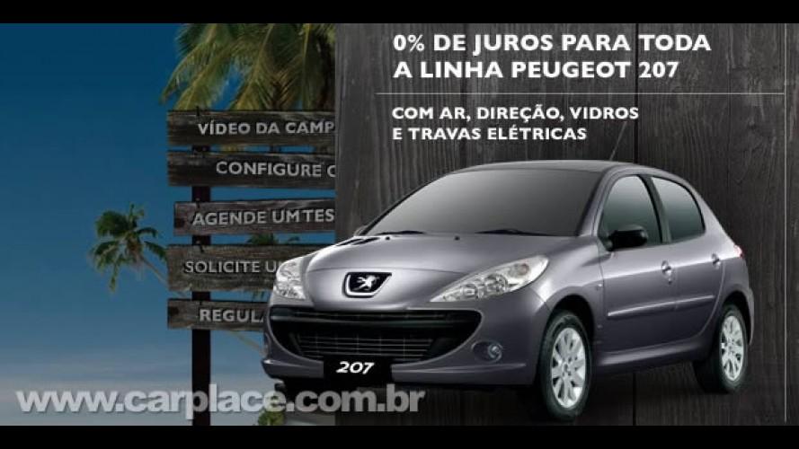 Peugeot oferece financiamento com taxa de juro zero para linha 207