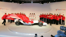 Toyota TF108 F1 Racecar Unveiling