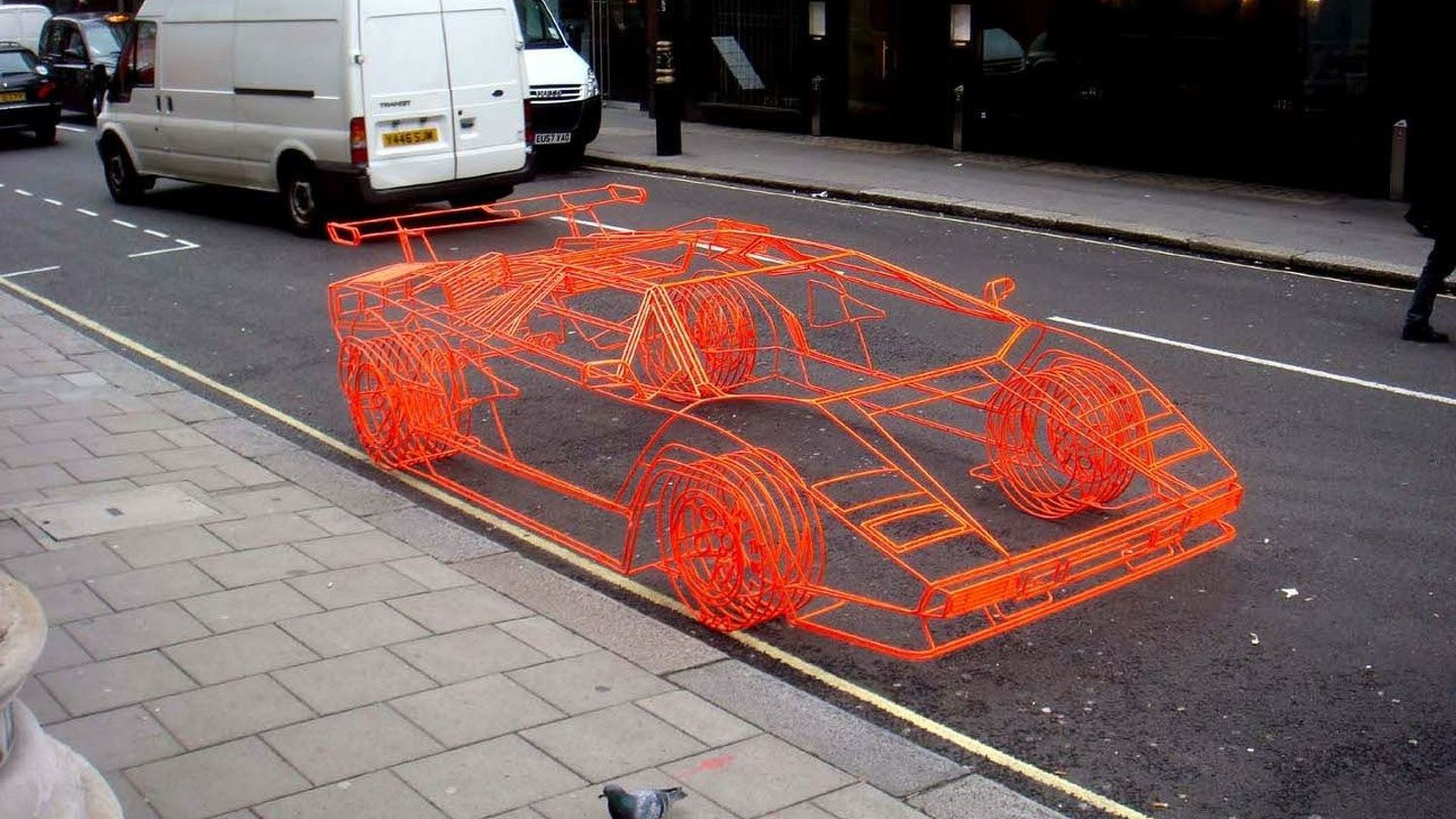 Lamborghini Countach Made of Steel Rods