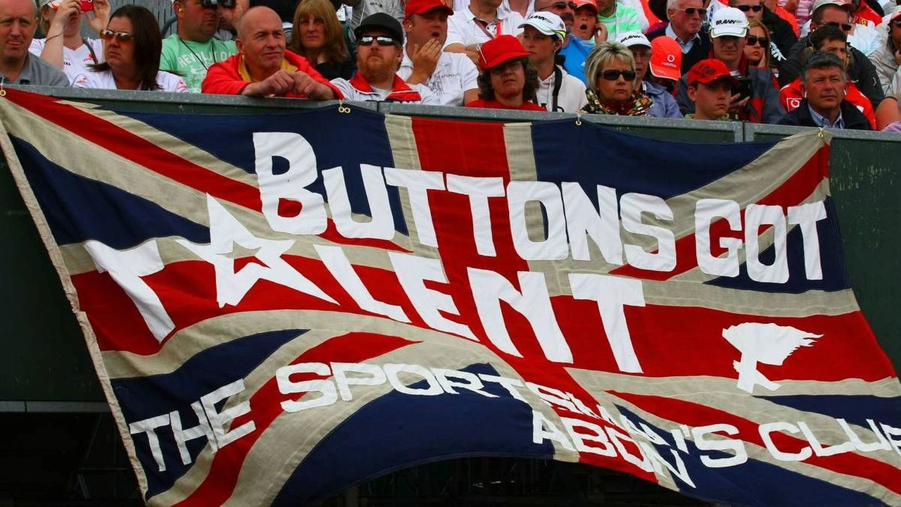 Fan poster for Jenson Button (GBR), Brawn GP, British Grand Prix, Sunday, 21.06.2009 Silverstone, England
