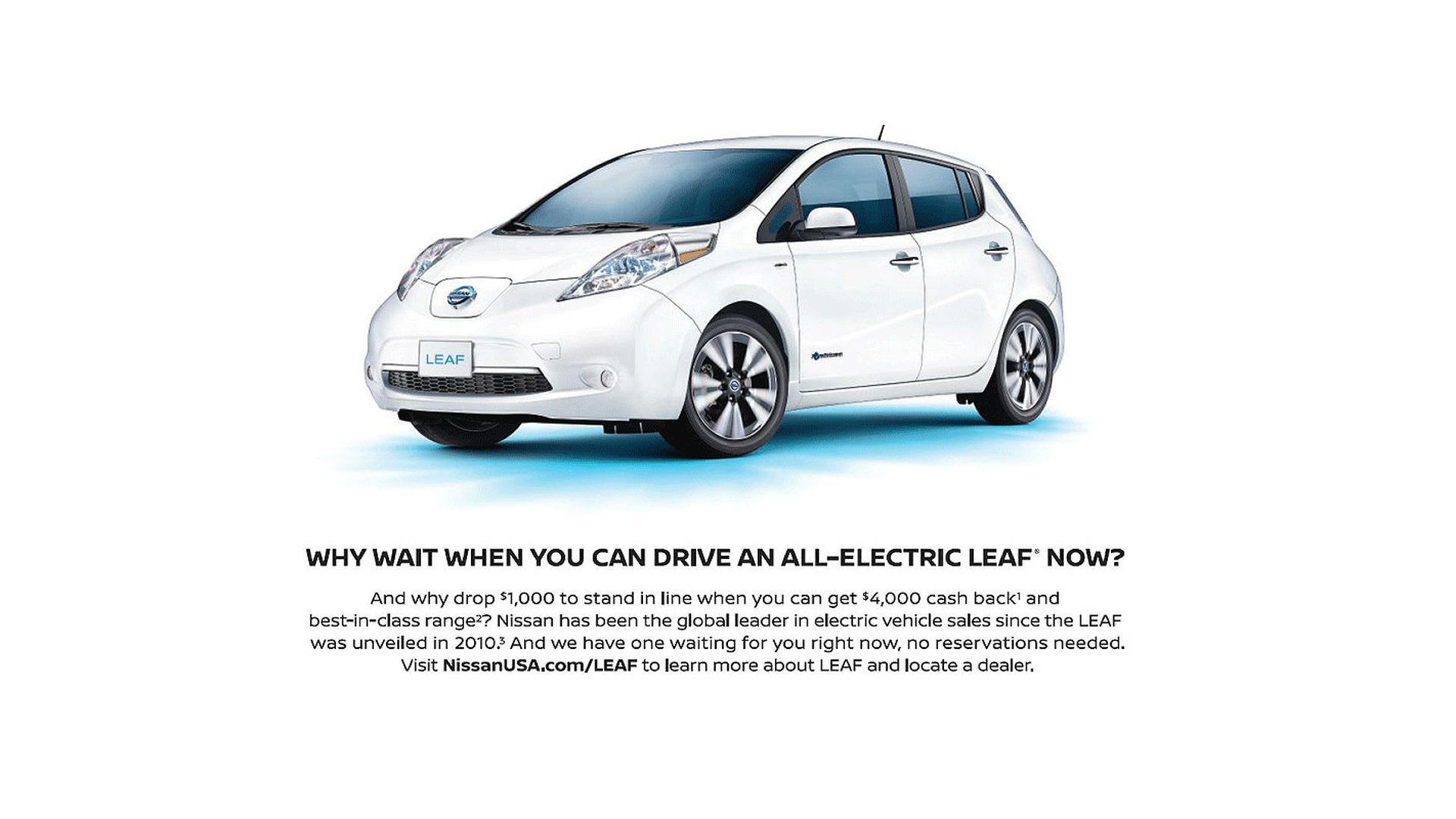 Nissan mocks Tesla Model 3 hype in new ad
