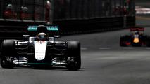 Lewis Hamilton, Mercedes AMG F1 W07 Hybrid on track