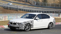 BMW 3-Series facelift spied testing hybrid setup at the Nurburgring