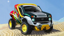 Lada Niva Russian Monster Robot Car