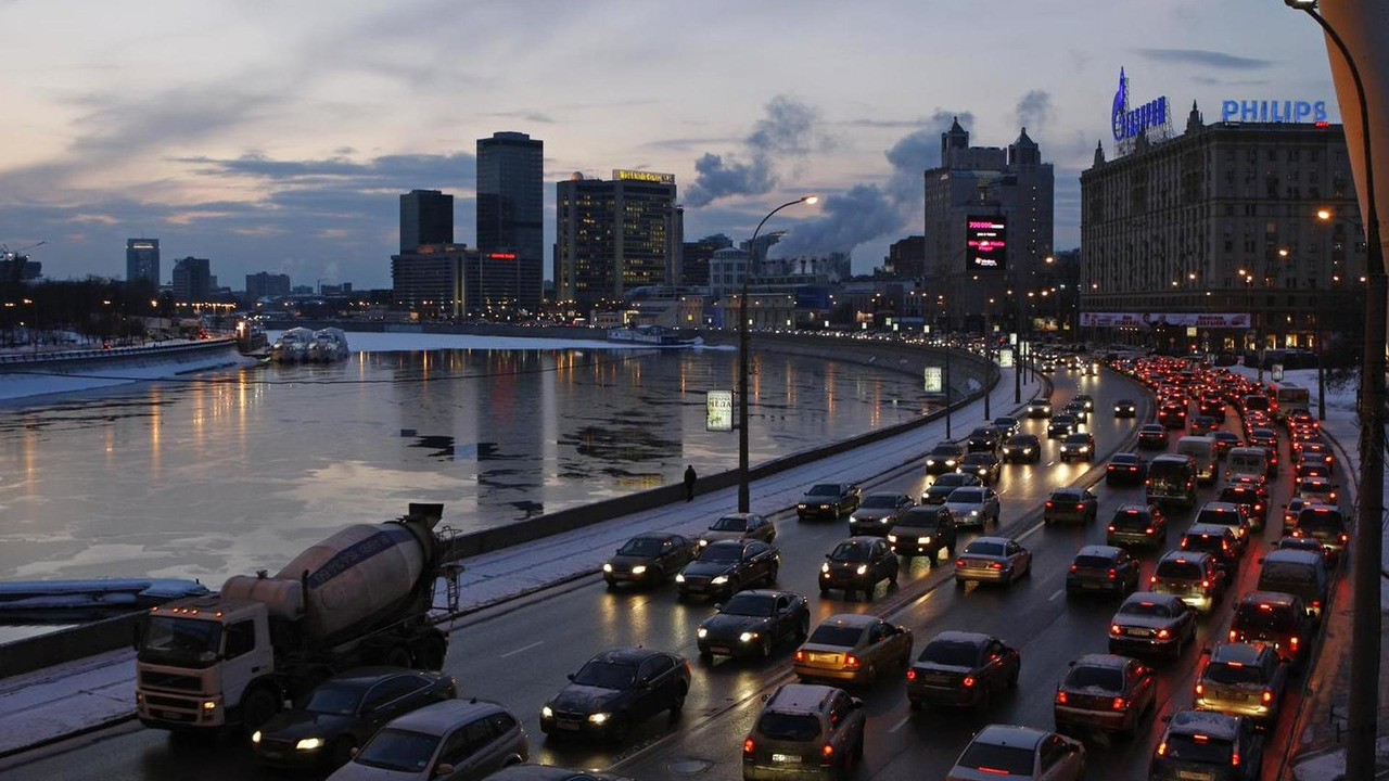 Moscow, Russia traffic