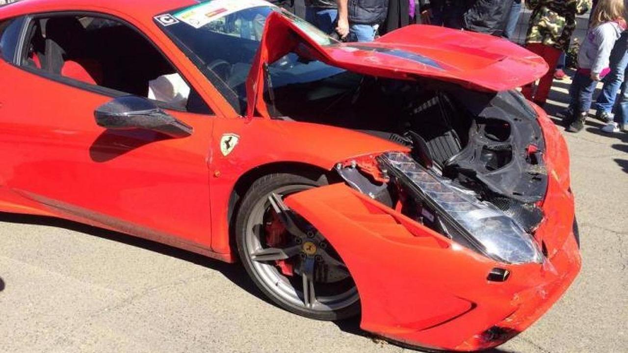 Ferrari 458 Speciale damaged in South Africa