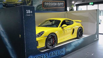 Porsche shows off Cayman GT4 like a full-size toy car