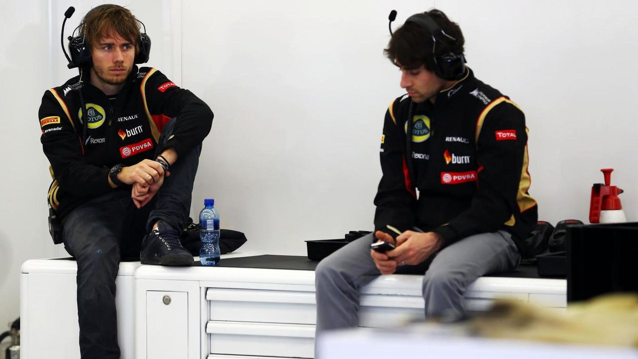 Charles Pic with Nicolas Prost 21.02.2014 Formula One Testing Bahrain