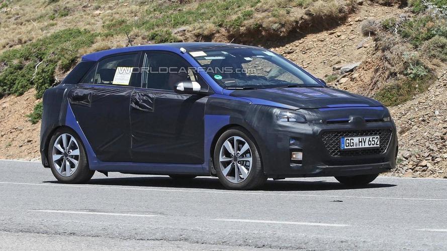2014 Hyundai i20 spied in Spain