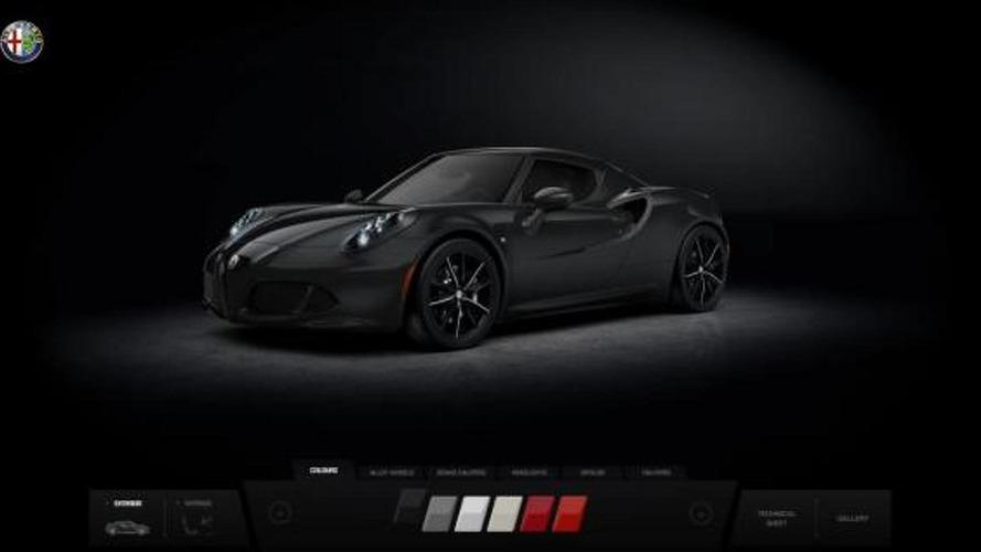 Alfa Romeo 4C online configurator launched