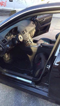 Mercedes-Benz C63 AMG interior wrecked in Sweden