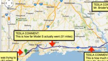 Map showing path for John Broder Tesla Model S test drive 14.2.2013