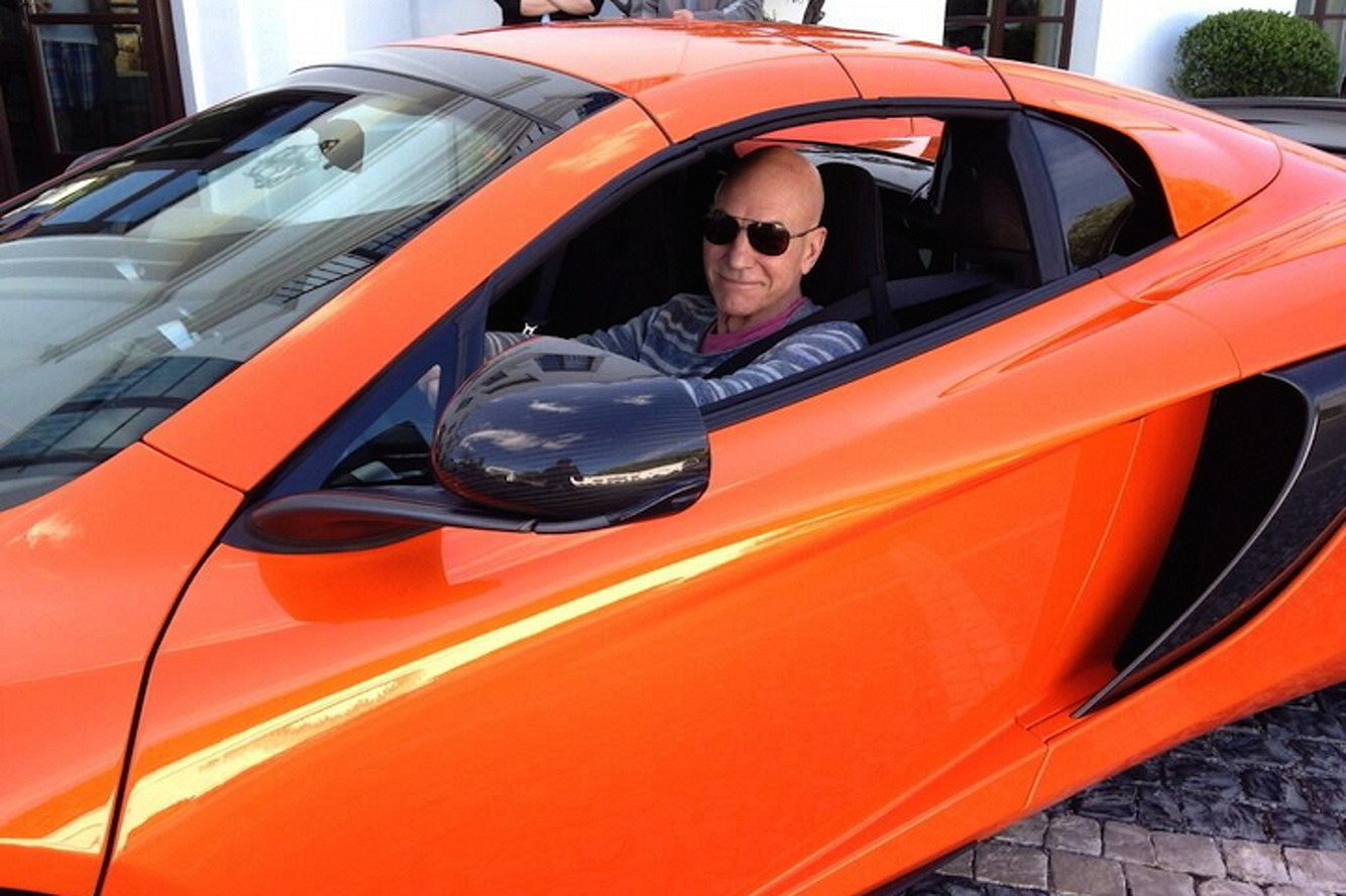 Sir Patrick Stewart Goes Into Warp Drive with the McLaren 650S