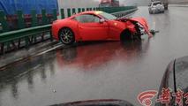 Brutal crash between a Ferrari 458 Spider and a California in China