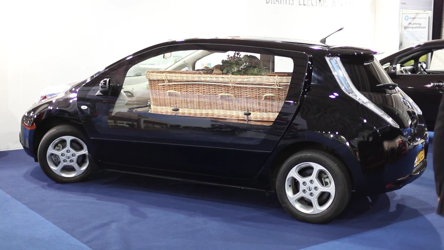 Nissan Leaf hearse takes eco-consciousness to your final resting place
