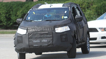 2013 Ford EcoSport SUV images leaked - full body prototypes hit the road
