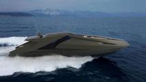 Lamborghini yacht 3D illustratios by Mauro Lecchi 28.04.2010