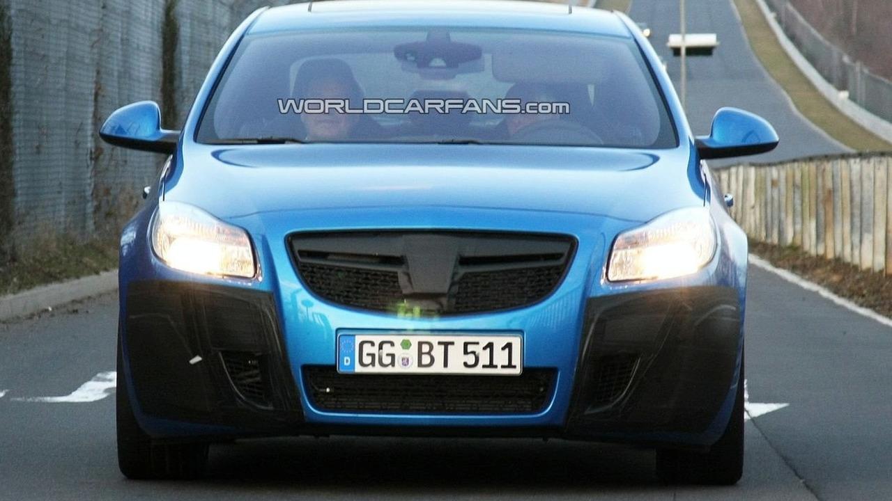 Opel Insignia OPC spy photo at Nurburgring