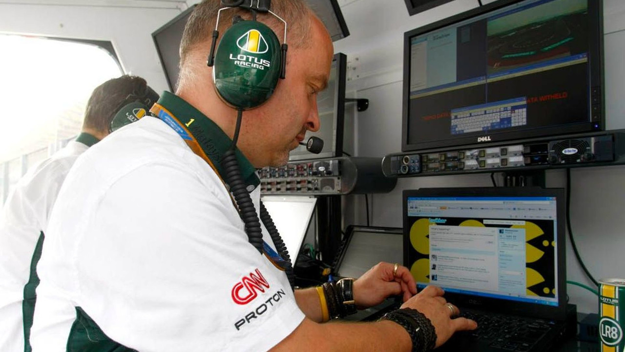 Lotus Racing Updating Twitter pages