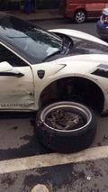 Mansory Ferrari 458 Siracusa crash in China