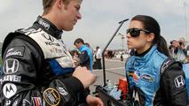 Marco Andretti and Danica Patrick