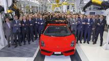 Lamborghini builds their last Gallardo, a LP 570-4 Spyder Performante