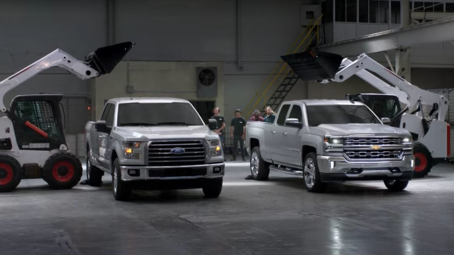 Chevy punishes truck beds to prove superiority of steel