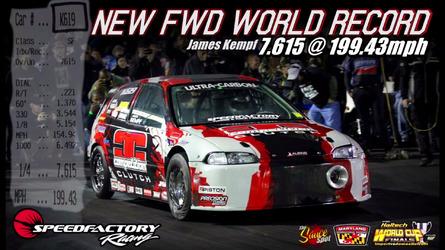 1,850 hp Honda Civic sets FWD quarter-mile record