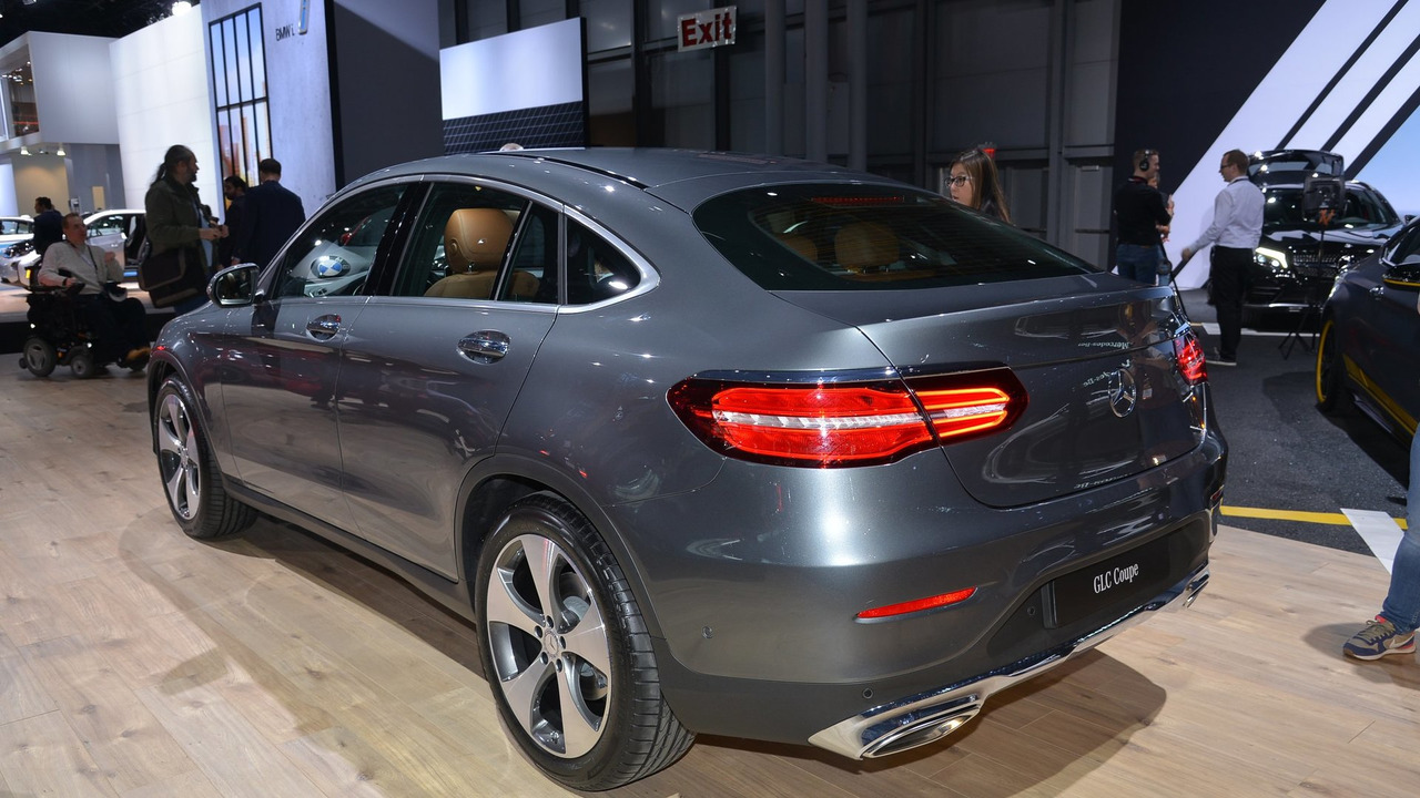 2017 mercedes benz glc coupe at new york auto show 2016 for Mercedes benz car show