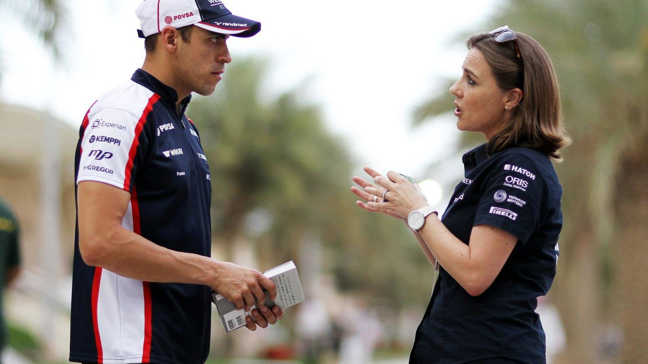 Pastor Maldonado with Claire Williams 18.04.2013 Bahrain Grand Prix