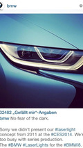 BMW's response on Twitter about the Audi Sport quattro laserlight concept