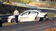 BMW M5 Nürburgring Taxi crashes, could be a total loss