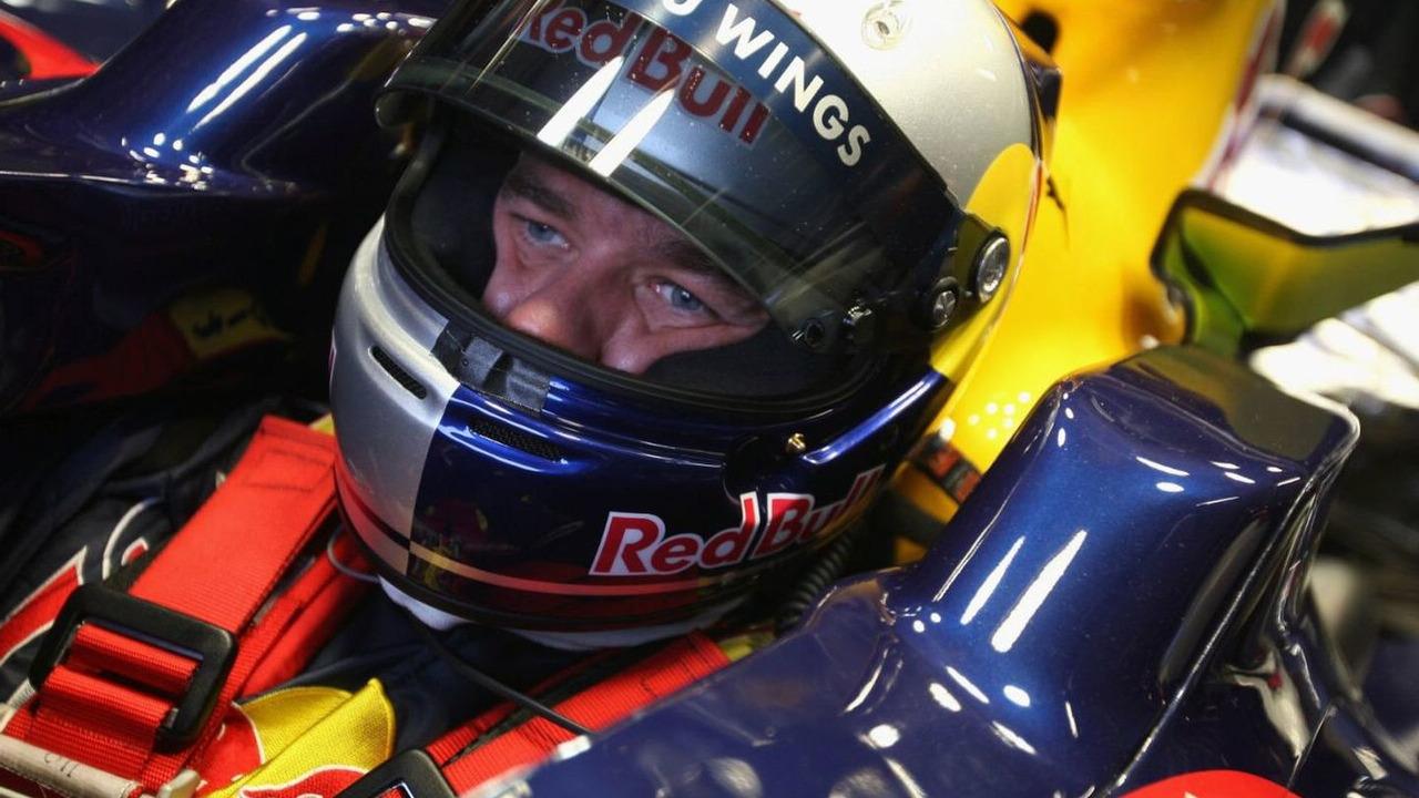 Sebastien Loeb tests in Red Bull Racing Formula 1 car, Silverstone, England 13.11.2008