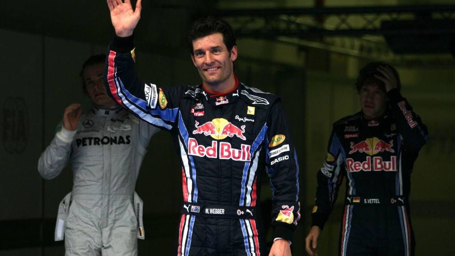 Webber hurt hand after paddock stairs descent