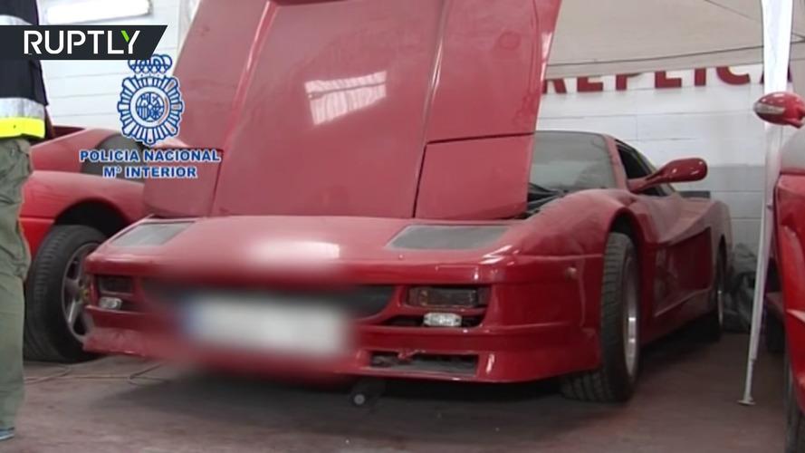 Fake Ferrari and Lamborghini cars in Spain