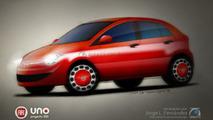 2011 Fiat Uno First Spy Photos Plus Artist Rendering