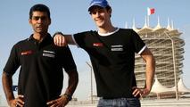 Senna's HRT car fired up in Bahrain garage