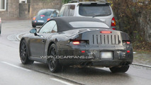 Porsche 991 Cabrio Spied Again with Little Less Camouflage