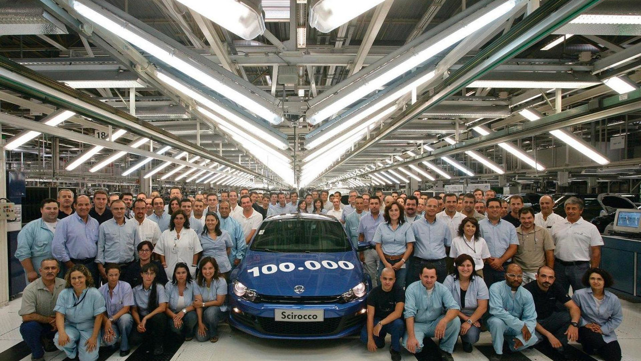 100,000 third-generation Scirocco, Production celebration at Volkswagen Autoeuropa plant, Palmela, Portugal, 06.08.2010