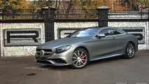 Matte gray wrapped Mercedes S63 AMG Coupe looks sexy
